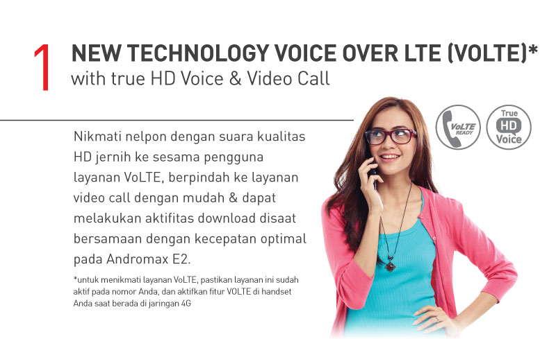 New Technology Voice over LTE (VOLTE) with true HD Voice & Video Call