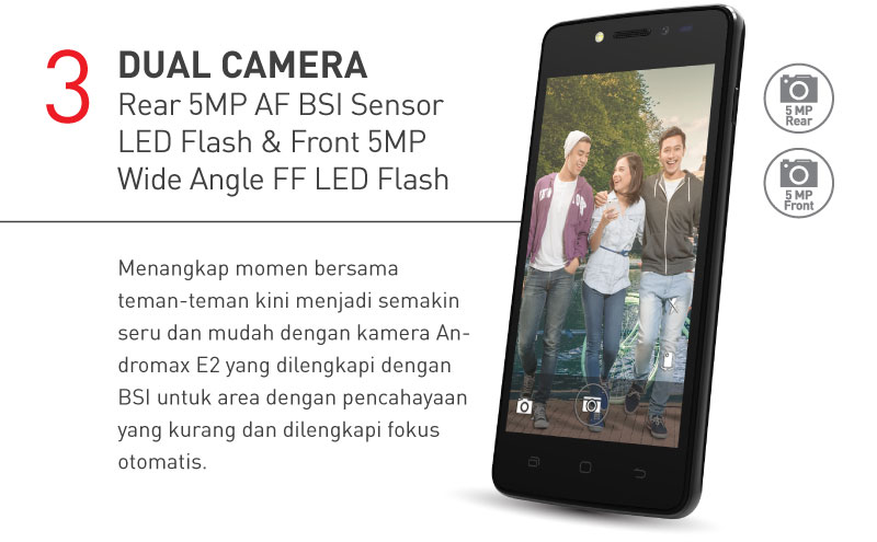 Dual Camera Rear 5MP AF